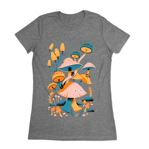 Mushroom Forest Spirits Womens T-Shirt