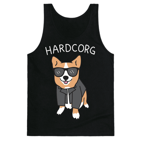 Hardcorg Hardcore Corgi Tank Top