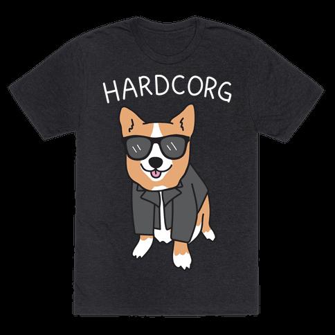 Hardcorg Hardcore Corgi Mens T-Shirt