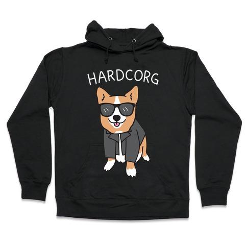 Hardcorg Hardcore Corgi Hooded Sweatshirt