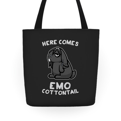 Here Comes Emo Cottontail Tote
