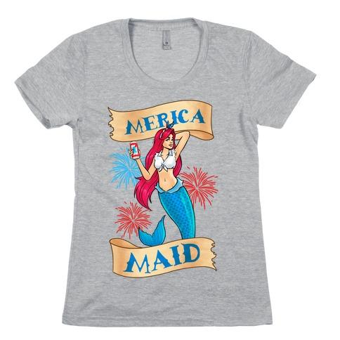 Merica Maid Womens T-Shirt