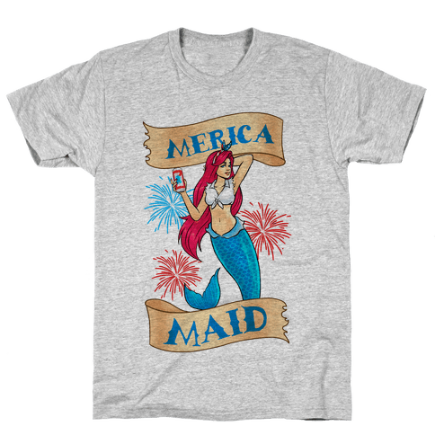 Merica Maid Mens T-Shirt