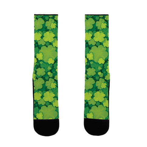 Clover Patch Pattern Sock