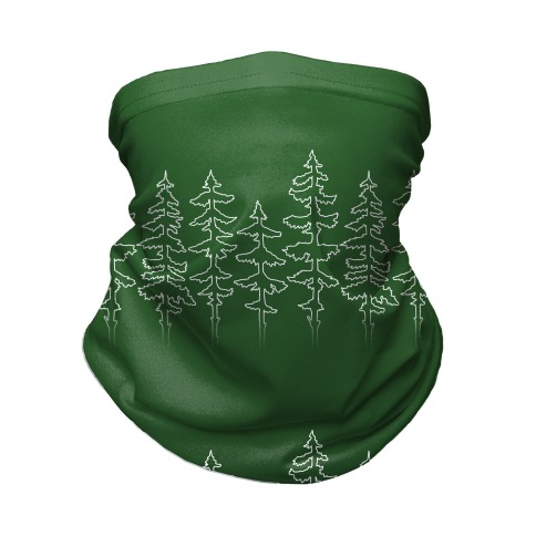 Evergreen Pines Gradient Neck Gaiter