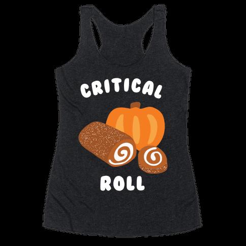 Critical Pumpkin Roll Racerback Tank Top