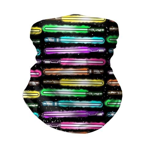 Rainbow Lightsabers Neck Gaiter