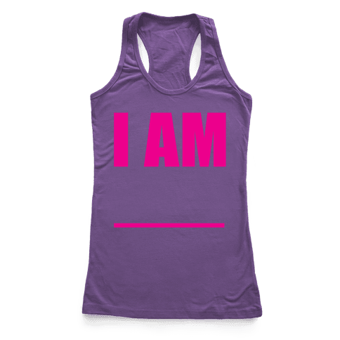 I Am Pair 2 Racerback Tank Top
