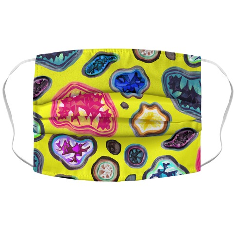 Geode Pattern Face Mask Cover