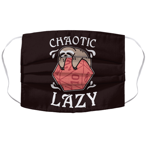 Chaotic Lazy Accordion Face Mask