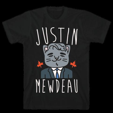 Justin Mewdeau White Print Mens T-Shirt