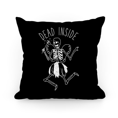Dead Inside Skeleton Fairy Pillow