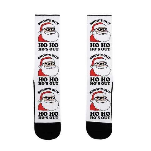 Snow's Out Ho Ho Ho's Out Christmas Sock