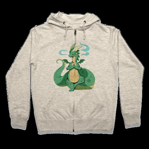 Dragon At Peace Zip Hoodie