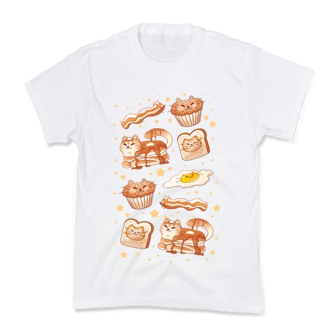 Breakfast Cats Kids T-Shirt