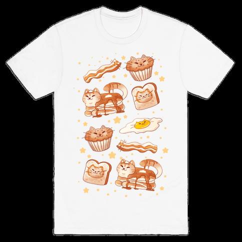 Breakfast Cats Mens/Unisex T-Shirt