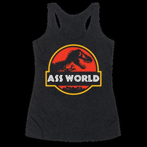 Ass world Racerback Tank Top