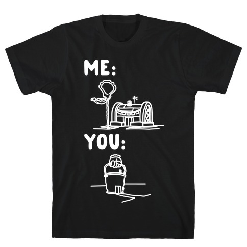 Me Vs. You Crust Chum Meme Parody White Print Mens T-Shirt