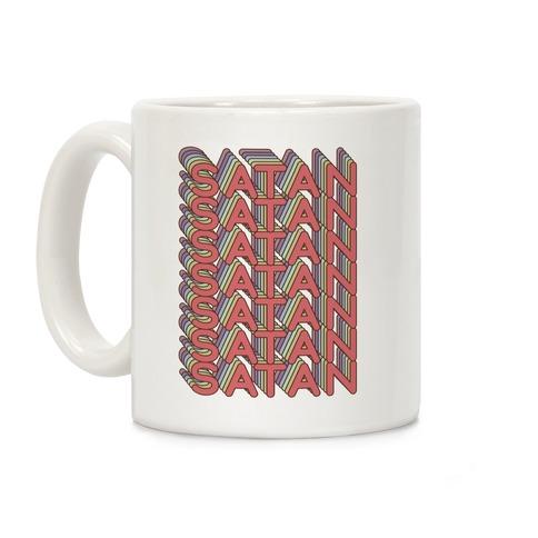 Satan Retro Rainbow Coffee Mug