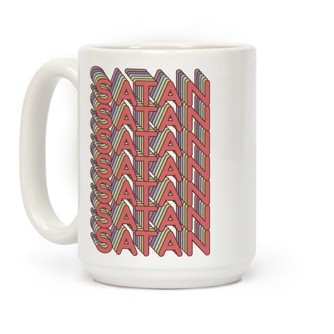 Satan Retro Rainbow Coffee Mug