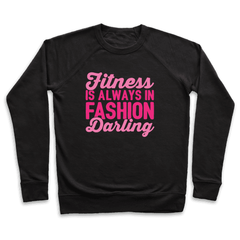 Fitness Is Always In Fashion Darling White Print Pullover