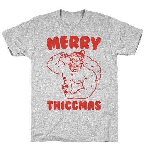 Merry Thiccmas Parody T-Shirt