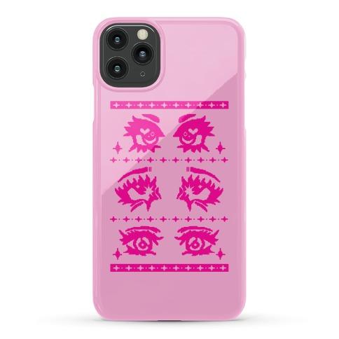 Anime Eyes Ugly Sweater Phone Case