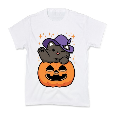 Cute Halloween Cat Kids T-Shirt
