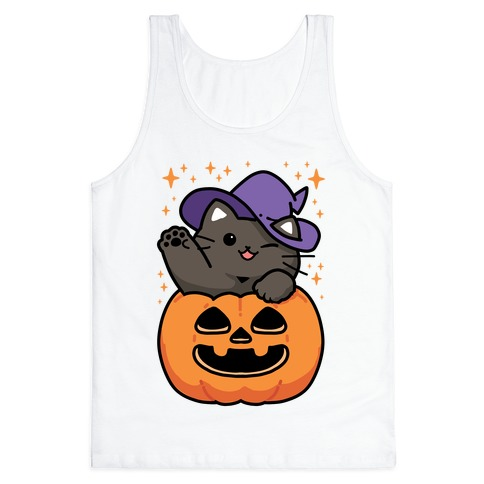 Cute Halloween Cat Tank Top