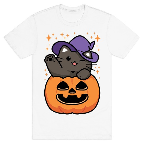 Cute Halloween Cat T-Shirt