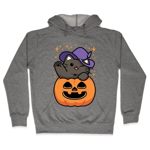 Cute Halloween Cat Hooded Sweatshirt