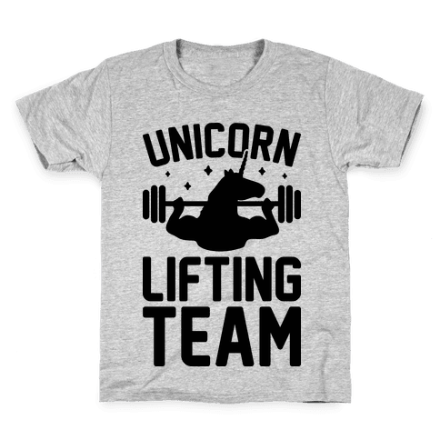 Unicorn Lifting Team Kids T-Shirt