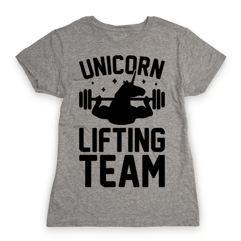 Unicorn Lifting Team Womens T-Shirt