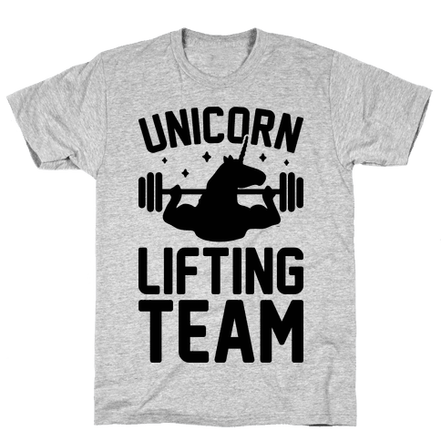 Unicorn Lifting Team Mens T-Shirt