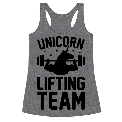 Unicorn Lifting Team Racerback Tank Top