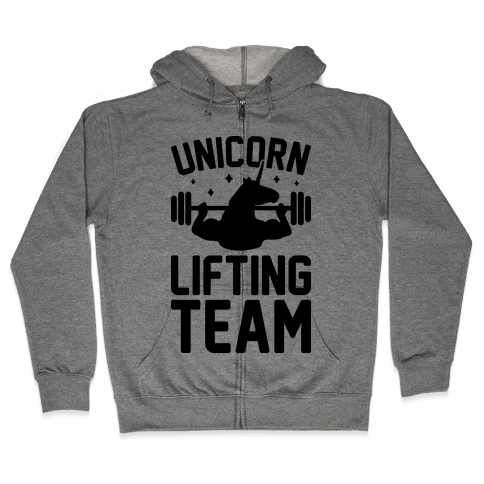 Unicorn Lifting Team Zip Hoodie