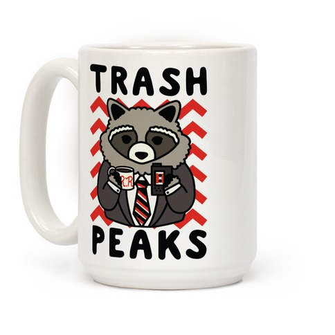 Trash Peaks Raccoon Coffee Mug