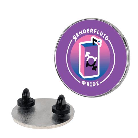 Genderfluid Pride Patch Pin