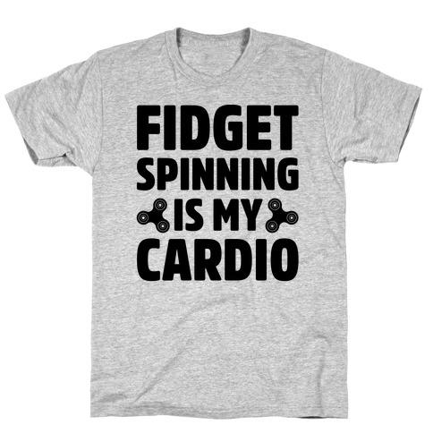 Fidget Spinning Is My Cardio Mens/Unisex T-Shirt