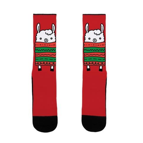 Long Llama Scarf Sock