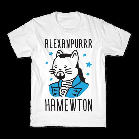 Alexanpurrr Hamewton Parody Kids T-Shirt