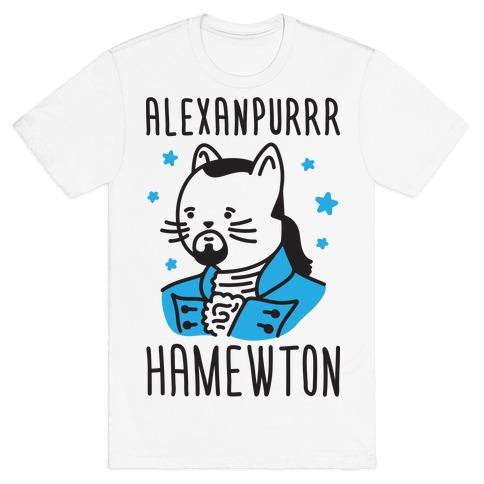 Alexanpurrr Hamewton Parody Mens T-Shirt