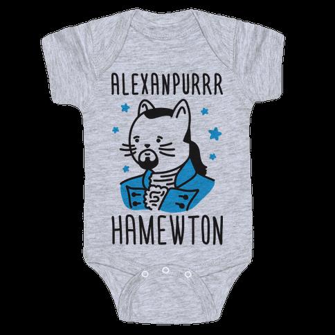 Alexanpurrr Hamewton Parody Baby Onesy
