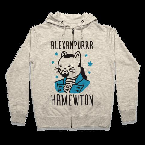 Alexanpurrr Hamewton Parody Zip Hoodie