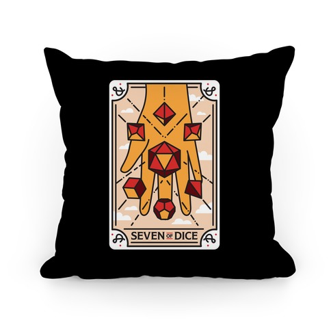 Seven of Dice - D&D Tarot Pillow
