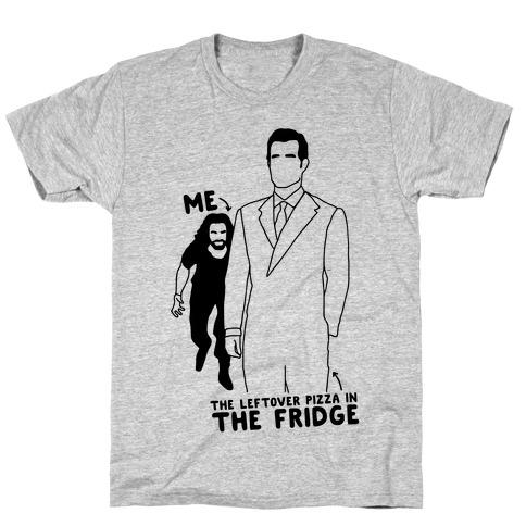 Me Vs. The Leftover Pizza In The Fridge  Mens T-Shirt