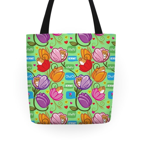 Harvest Mice Emoji Floral Pattern Tote