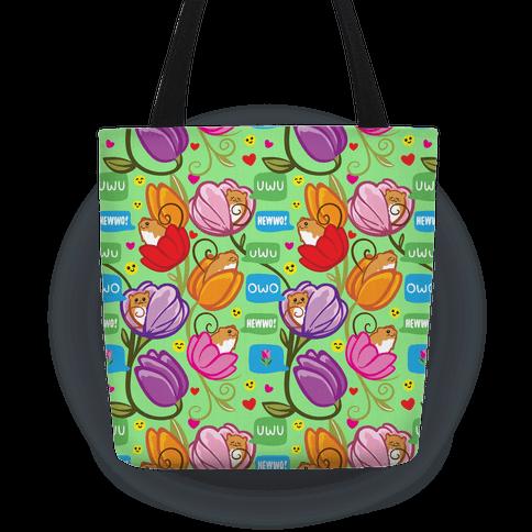 Harvest Mice Emoji Floral Pattern Tote