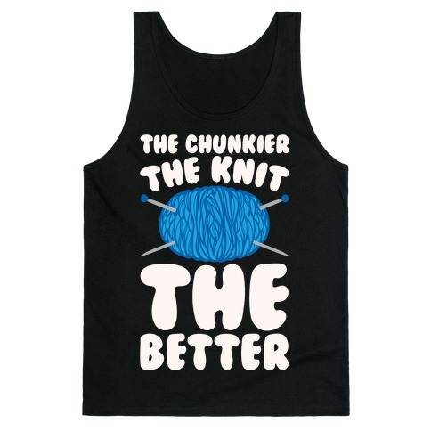 The Chunkier The Knit The Better White Print Tank Top