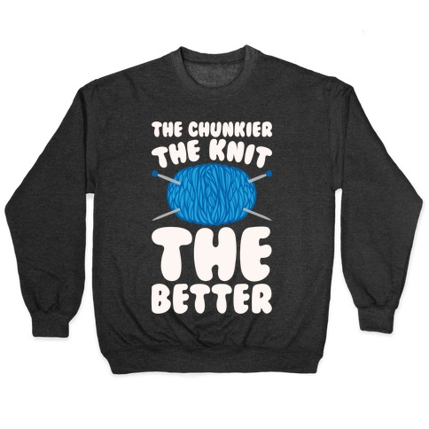 The Chunkier The Knit The Better White Print Pullover